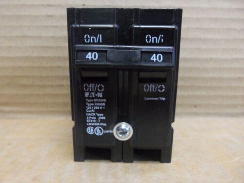EATON BR BR240B 2 POLE 40 AMP 120//240V Circuit Breaker BR240