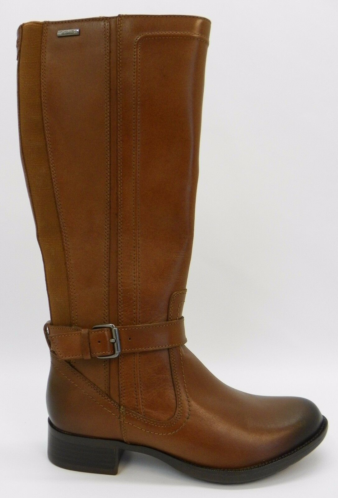 Rockport Womens Shoe Christy Round Toe Leather Tan Brown Tall Knee High Boots 6M