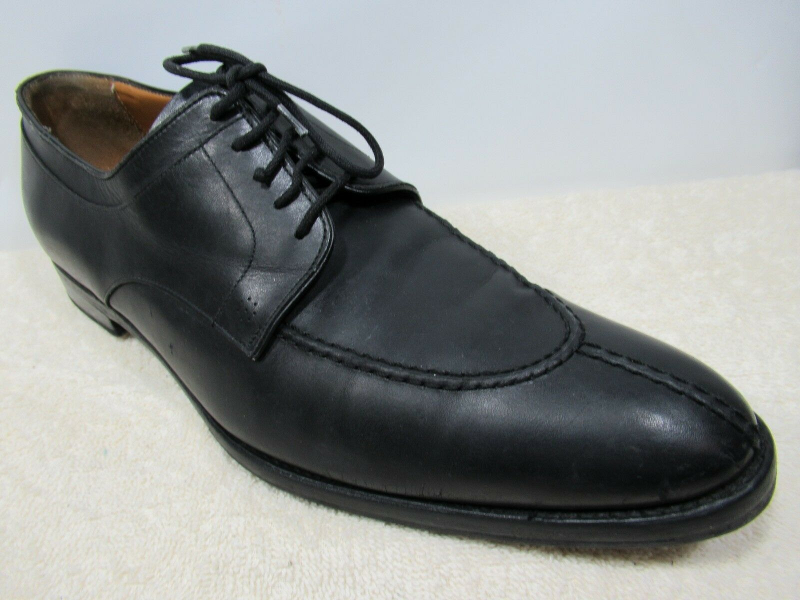 LODING SHOES BLACK LEATHER UPPER SIZE 10 MADE IN ITALY