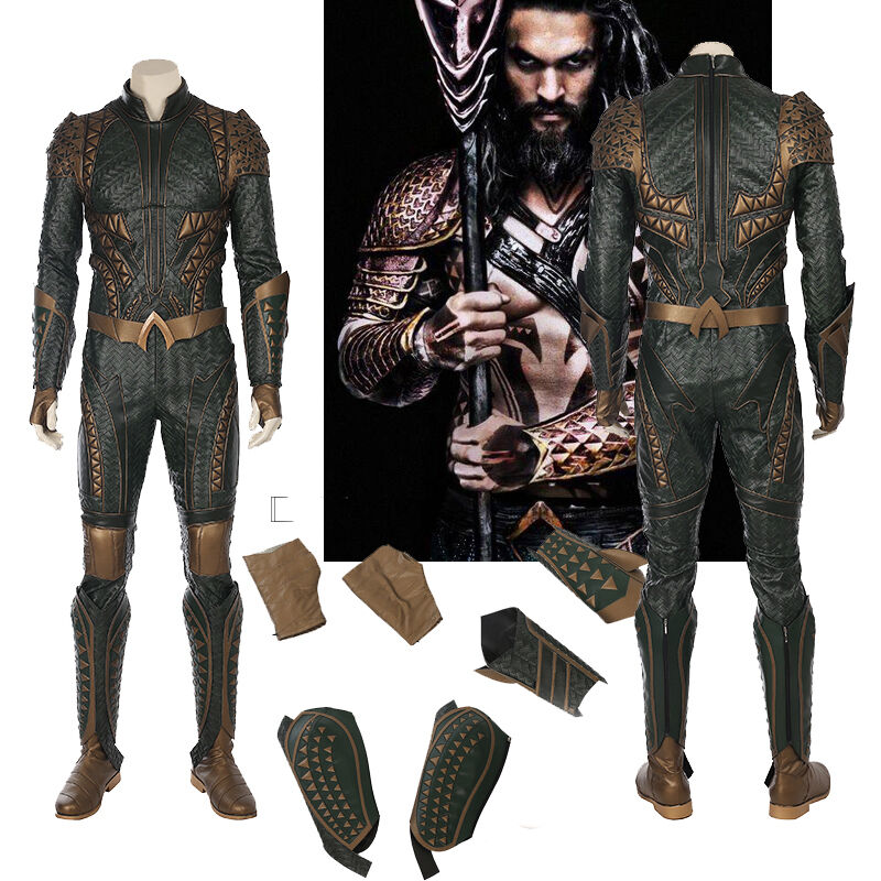 Justice League - Exclusive Justice League Aquaman Cosplay Costume Jumpsuit Cos Accessories Suit