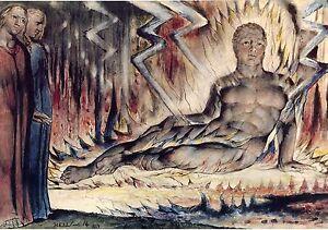 William Blake Illustrations Divine Comedy The Blasphemer Fine Art Print Ebay