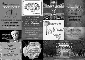 A2 Success in life Quotes Canvas Wall Art  Picture Print Black /& White A1 A0