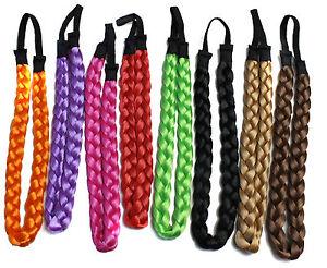 Girls-Braided-Hair-band-Synthetic-Hair-Plaited-Plait-Elastic-Headband-accessory