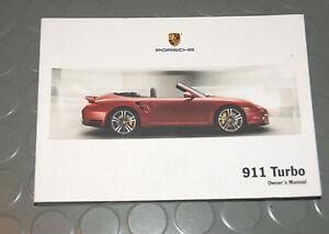 2010 porsche turbo 997 911 owners manual book ebay rh ebay ie service manual porsche 997 porsche 997 owners manual pdf