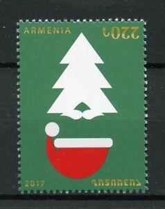 Armenie-2017-neuf-sans-charniere-Noel-amp-Nouvel-An-1-V-Set-Pere-Noel-Arbres-timbres