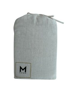 M Home French Linen Fitted|Flat Sheet|Pillowcase- Natural