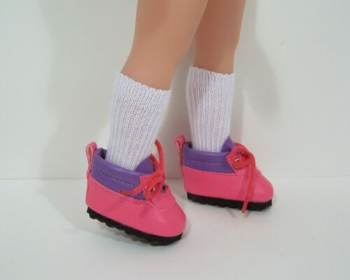 """PINK LAVENDER Hiking Boots Doll Shoes For 14/"""" Heart For Hearts Playmates Debs"""