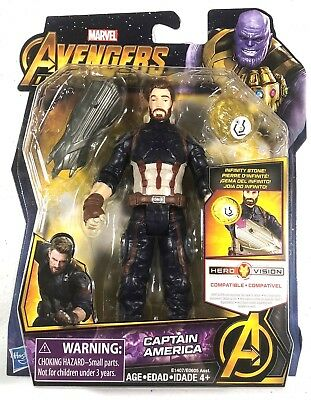 Marvel Avengers Infinity War Captain America with Infinity Stone 6 Inch Figure
