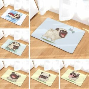 Floor Mat Funny Pugs Dogs Printed Suede