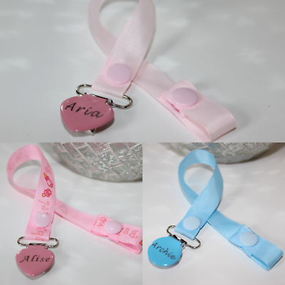 Personalised Dummy Clip ~Suitable for Avent Tommee Tippee,MAM *ENGRAVED* BLUE