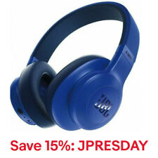 JBL E55BT Over-Ear Wireless Headphones, Blue