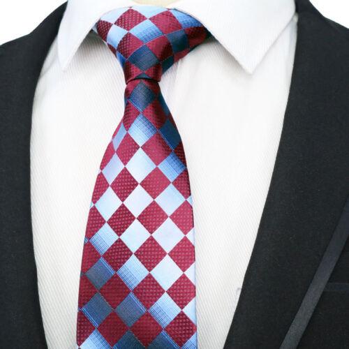Various Classic 8CM mens tie Man Silk ties Plaids Striped Jacquard Wedding Party