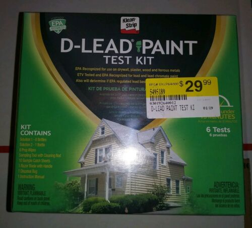 NEW D-LEAD LEAD PAINT TEST KIT 6 TESTS PER KIT FREE SHIPPING