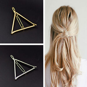 2X-Women-Korean-Style-Triangle-Hairpin-Hair-Clip-Hair-Accessories-Bobby-Pins-Fad