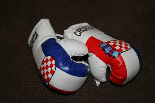 CROATIAN FLAG Mini Boxing Gloves ORNAMENT CROATIA