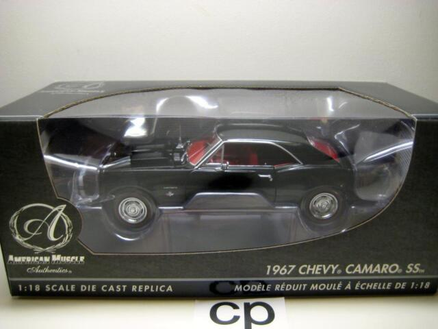 1967 Chevy Camaro Ss Black American Muscle Authentic Ertl 1 18 Ebay