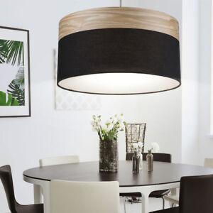 Diseño Lámpara Colgante Marrón Madera Luz Techo Cocina Reflector ...