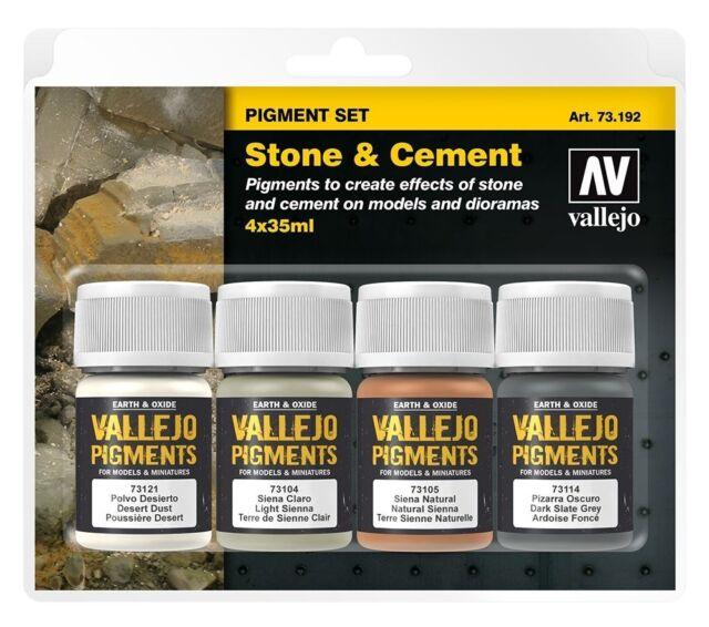 Val73192 - Av Vallejo Pigments Set - Pierre & Ciment