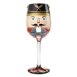fb5570e05b14 Lolita Lets Get Nuts Christmas Nutcracker Wine Glass Boxed 6000047 ...