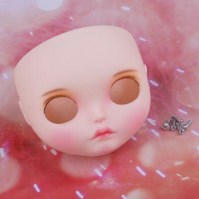 Doll Faceplate Backplate Head Face Shell with Makeup for Blythe Doll Accs