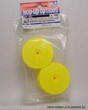 New Tamiya Part 53985 TRF 501 X / DB 01 Front Dish Wheels in Yellow # 985