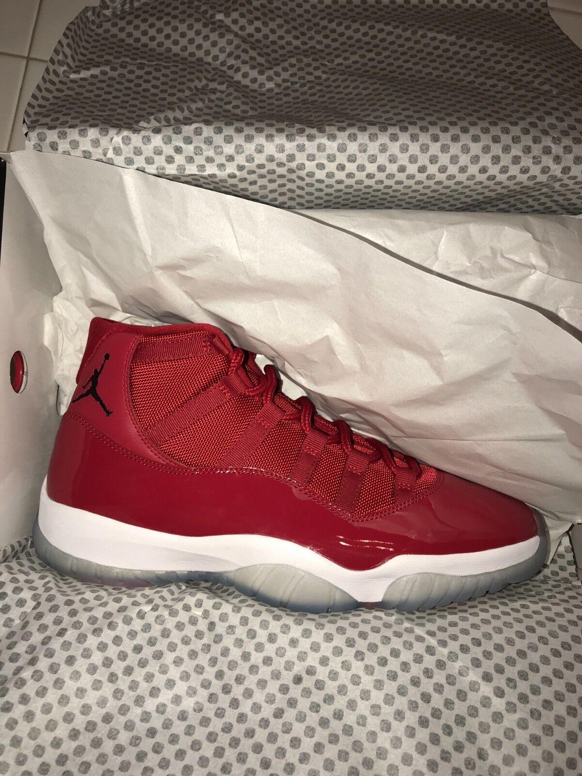 Nike Air Jordan XI 11 Retro Win [378037-623] Men Casual Shoes Win Retro Like 96 Gym Red 6a8e09
