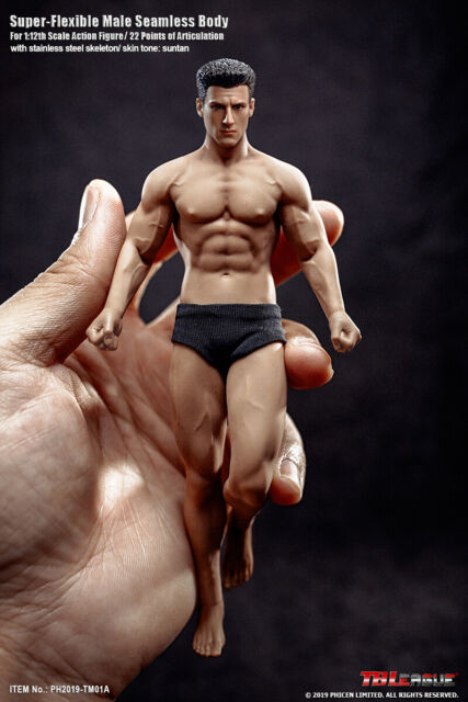 TBLeague TM01A Phicen Male Seamless Muscular Body w/ Head 1/12 Action FIGURE