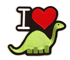 "I Heart Dino Iron-On Patch 3 1/2"" x 3 1/4"" Free Shipping Licensed PCH-GT0401"