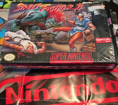 Street Fighter Ii Snes Super Nintendo Complete Cib Tested And
