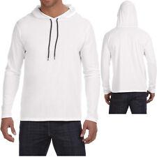 Mens Lightweight Hoodie T-Shirt Long Sleeve Hoody Tee Soft Cotton S-XL 2XL 3XL