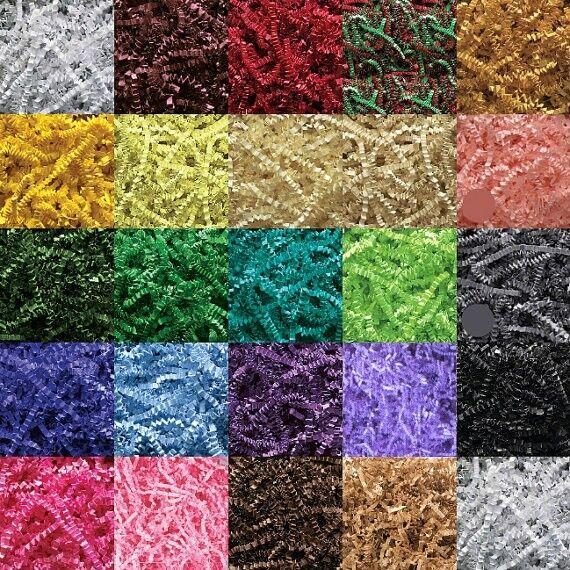 24 COLORS - U PICK! Gift Basket Shred, Crinkle Paper Grass Filler (6oz)