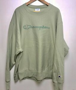 95fc0e4e9 NEW Champion Reverse Weave Crewneck Sweater Men's 2XL Olive Green ...