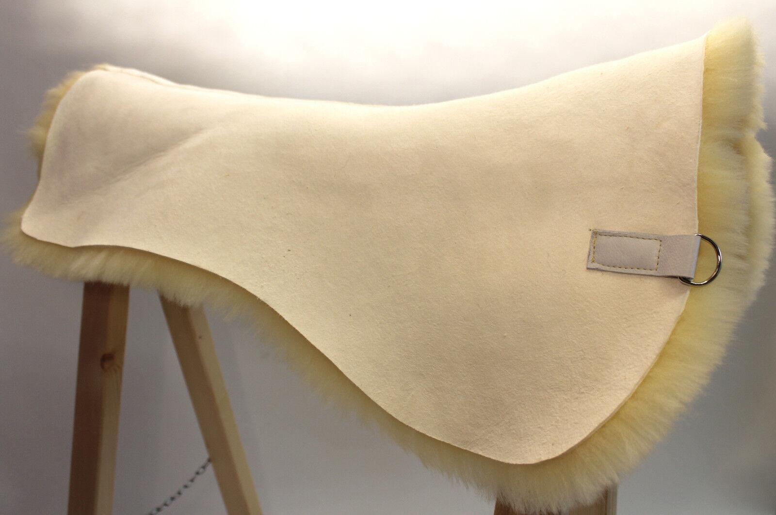 Magnifique Support en Laine de Mouton pour Tapis Selle, Tampon 100% Peau