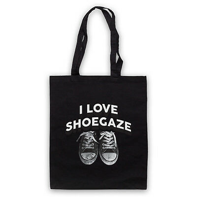 I LOVE SHOEGAZE INDIE ALTERNATIVE ROCK MUSIC FAN SHOULDER TOTE SHOP BAG