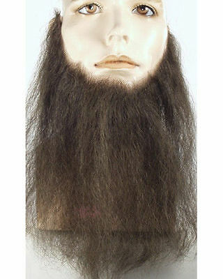 "10"" LONG FULL FACE BEARD HUMAN HAIR DUCK DYNASTY STAGE COSTUME BEARD M55-11"