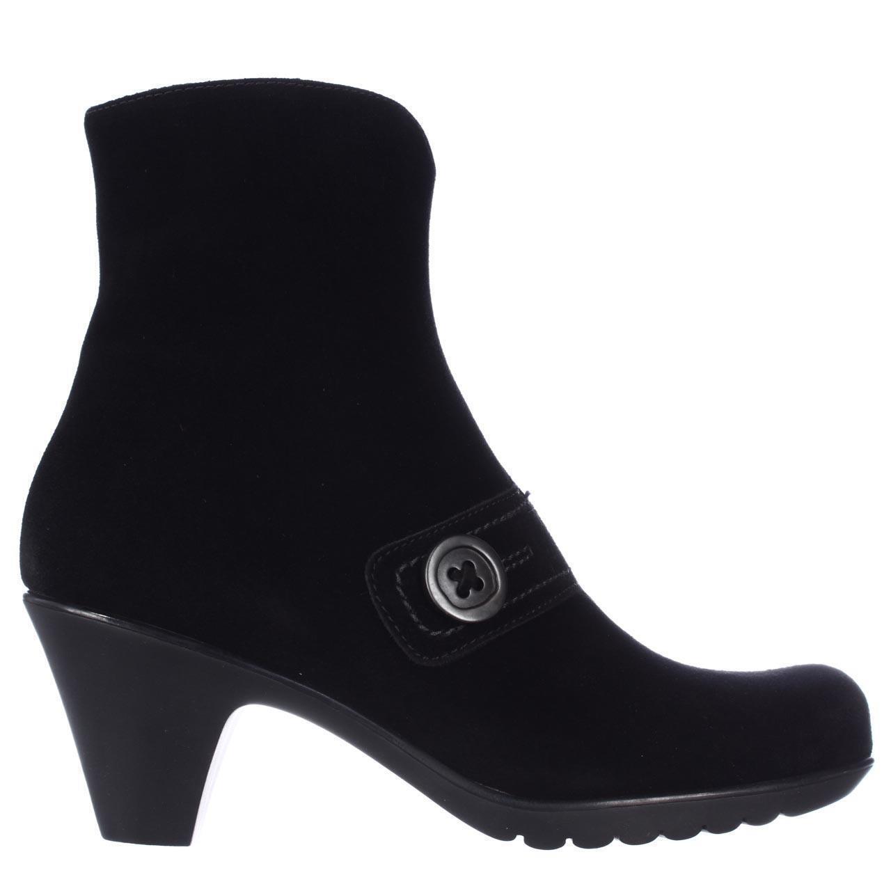 LA CANADIENNE Womens Dorthea Black Suede Suede Suede WATERPROOF Ankle Zip Boots 8.5 NEW 1e6f01