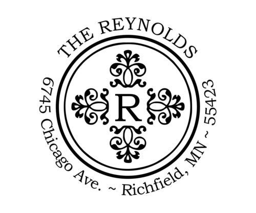 AS-17 Reynolds Deco Round Return Address Stamp Ideal 400R Self Inking Custom