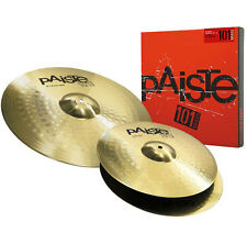 "PAISTE 101 Brass Cymbal Set 13"" Hi Hat, 18"" Crash Ride"
