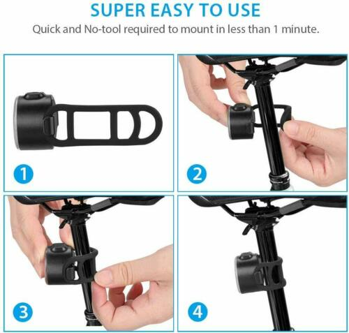 Details about  /USB Rechargeable LED Bicycle Bike Front Rear Light Set Headlight Taillight Lamp