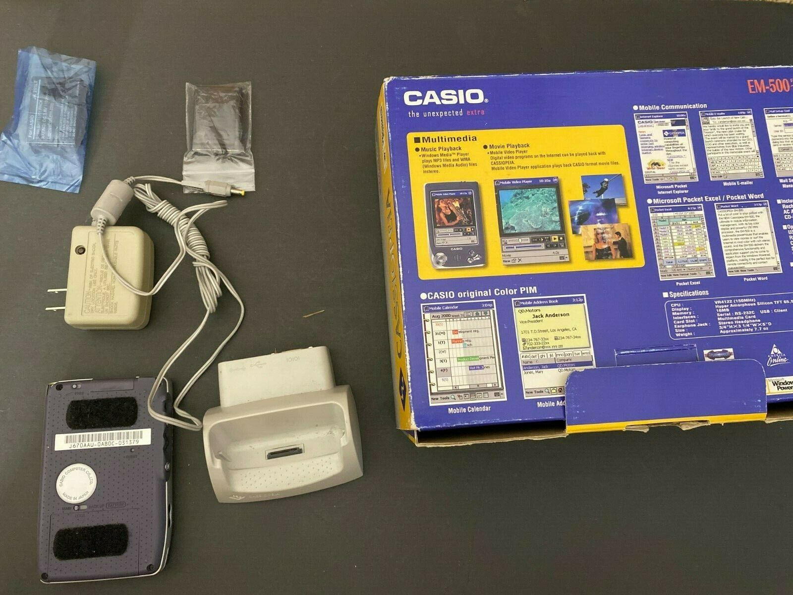 FOR PARTS NOT WORKING Casio EM500 Pocket PC