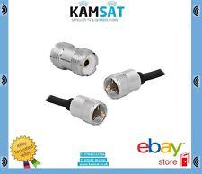 CB Radio Cable Plomo Parche RG58 3m de largo soldado + conector Pl-259 Uhf barril