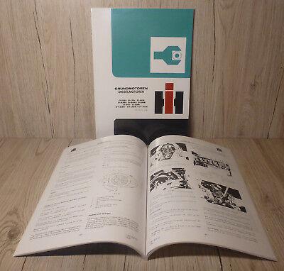 Angemessen Werkstatthandbuch Grundmotoren Für Ihc Traktor Diesel Motor D155 Verschiedene Stile