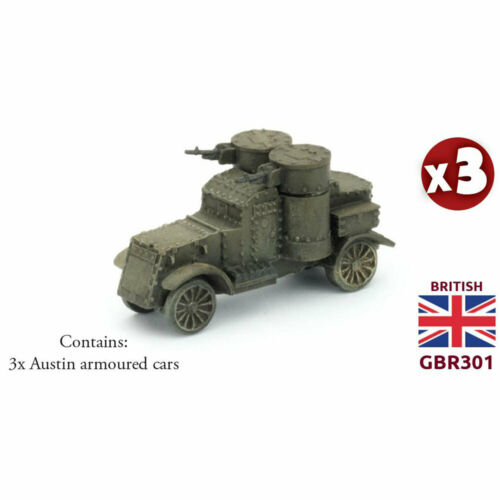 Flames of War The Great War British Armored Car Troop Austin Armored Cars GBR301