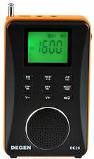Degen DE26 Rechargeable AM/FM Shortwave Radio , Portable Speaker & MP3 Player
