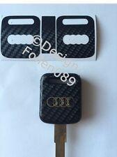 Carbon Folie / Dekor Schwarz Schlüssel Key Audi 80 90 100 200 S2 S4 VW Golf HU49
