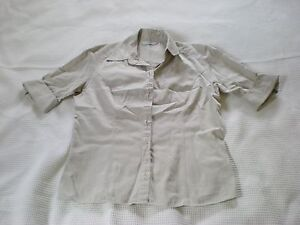 Ladies-fawn-collared-short-sleeved-tailored-shirt