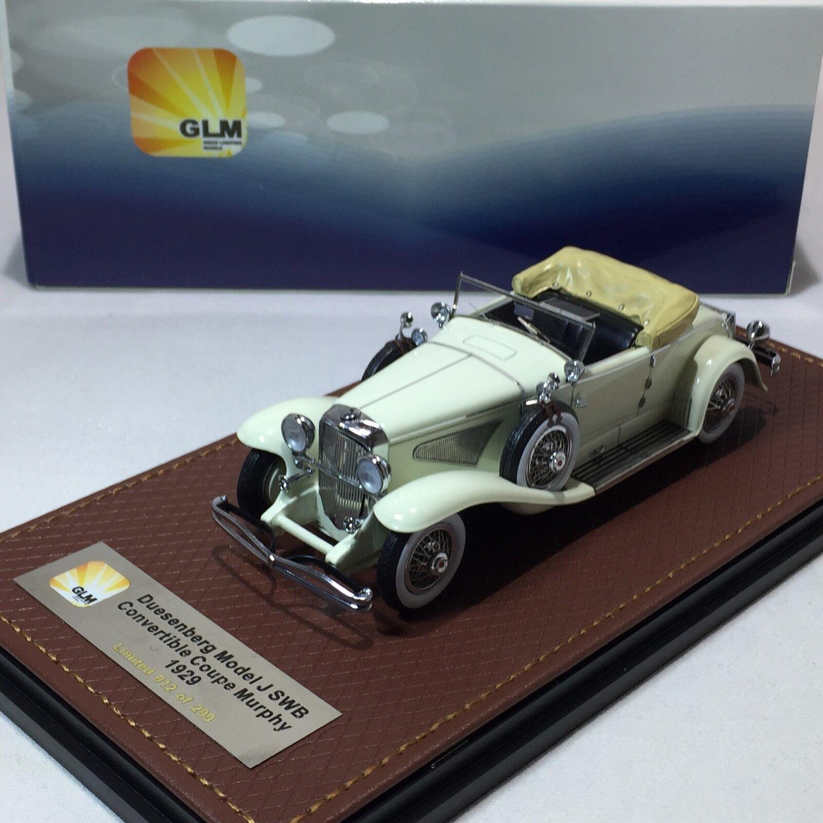 1 43 Modelo GLM Duesenberg J SWB Converdeible Coupe 1929 GLM151001 Morphy