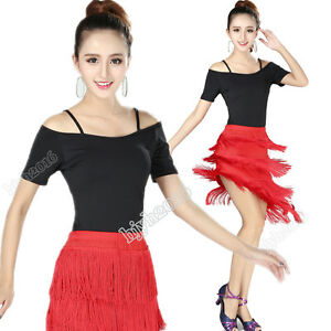 f391f82a3 2019 Latin Dance Costume Suit Ballroom Cha Cha Practice Tassel ...