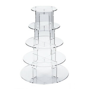4-5-7-Tier-Cupcake-Stand-Clear-Acrylic-Holder-For-Wedding-amp-Party-Cake-Display