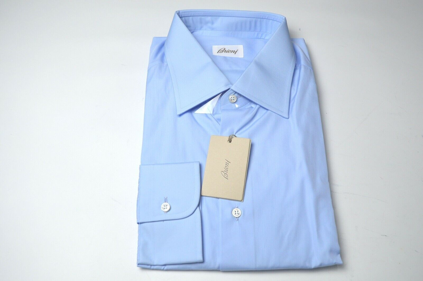 NEW  BRIONI Dress  SHIRT 100% Cotton Größe 17.5 Us 44 Eu  (ARA226)